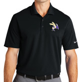 Nike Golf Dri Fit Black Micro Pique Polo-Yellow Jacket