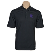 Nike Golf Tech Dri Fit Black Polo-Interlocking DC