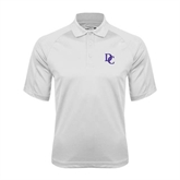 White Textured Saddle Shoulder Polo-Interlocking DC