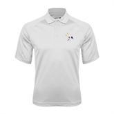 White Textured Saddle Shoulder Polo-Yellow Jacket