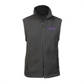Fleece Full Zip Charcoal Vest-Defiance