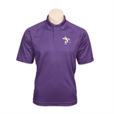 Purple Textured Saddle Shoulder Polo-Yellow Jacket