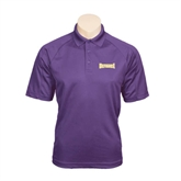Purple Textured Saddle Shoulder Polo-Defiance