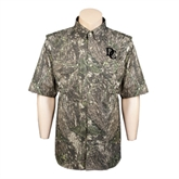 Camo Short Sleeve Performance Fishing Shirt-Interlocking DC