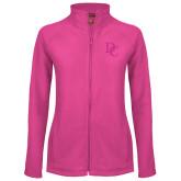 Ladies Fleece Full Zip Raspberry Jacket-Interlocking DC