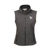 Ladies Fleece Full Zip Charcoal Vest-Yellow Jacket
