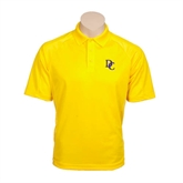 Gold Textured Saddle Shoulder Polo-Interlocking DC