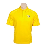 Gold Textured Saddle Shoulder Polo-Yellow Jacket