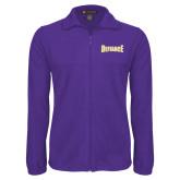 Fleece Full Zip Purple Jacket-Defiance