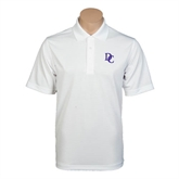 White Mini Stripe Polo-Interlocking DC