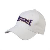White Heavyweight Twill Pro Style Hat-Defiance