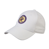 White Heavyweight Twill Pro Style Hat-Defiance College Baseball