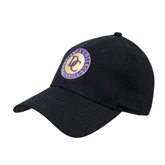 Black Heavyweight Twill Pro Style Hat-Defiance College Baseball