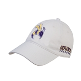 White Twill Unstructured Low Profile Hat-Yellow Jacket