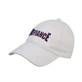 White Twill Unstructured Low Profile Hat-Defiance