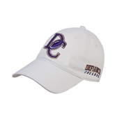 White Twill Unstructured Low Profile Hat-DC Football