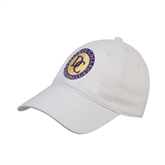 White Twill Unstructured Low Profile Hat-Defiance College Baseball