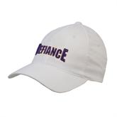 White OttoFlex Unstructured Low Profile Hat-Defiance