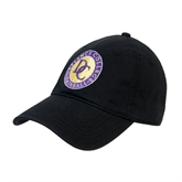 Black Twill Unstructured Low Profile Hat-Defiance College Baseball