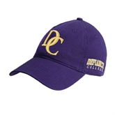 Purple Twill Unstructured Low Profile Hat-Interlocking DC