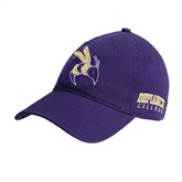 Purple Twill Unstructured Low Profile Hat-Yellow Jacket