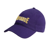 Purple Twill Unstructured Low Profile Hat-Defiance