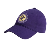 Purple Twill Unstructured Low Profile Hat-Defiance College Baseball