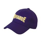 Purple Heavyweight Twill Pro Style Hat-Defiance