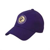 Purple Heavyweight Twill Pro Style Hat-Defiance College Baseball