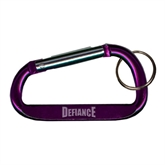 Purple Carabiner with Split Ring-Defiance Engraved
