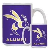 Alumni Full Color White Mug 15oz-Yellow Jacket