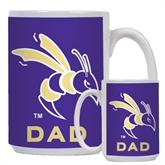 Dad Full Color White Mug 15oz-Yellow Jacket