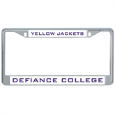 Metal License Plate Frame in Chrome-Defiance Yellow Jackets