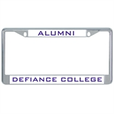 Metal License Plate Frame in Chrome-Alumni