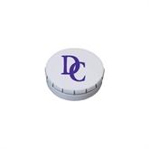 White Round Peppermint Clicker Tin-Interlocking DC