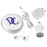 3 in 1 White Audio Travel Kit-Interlocking DC