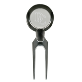Silver Divot Tool/Ball Marker-Interlocking DC Engraving