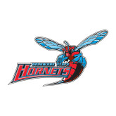 Medium Decal-Delaware State Hornets w/Hornet, 8 inches wide