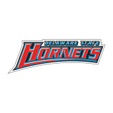 Medium Decal-Delaware State Hornets, 8 inches wide