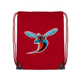 Nylon Red Drawstring Backpack-Hornet