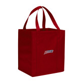Non Woven Red Grocery Tote-Delaware State Hornets