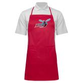 Full Length Red Apron-Delaware State Hornets w/Hornet