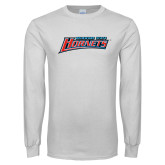 White Long Sleeve T Shirt-Delaware State Hornets