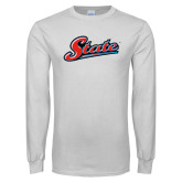 White Long Sleeve T Shirt-State