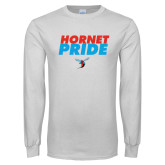 White Long Sleeve T Shirt-Hornet Pride