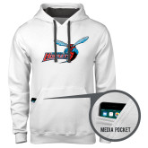 Contemporary Sofspun White Hoodie-Delaware State Hornets w/Hornet