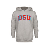 Youth Grey Fleece Hood-Arched DSU