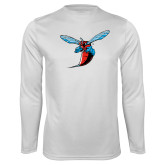 Performance White Longsleeve Shirt-Hornet