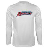 Performance White Longsleeve Shirt-Delaware State Hornets