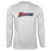 Performance White Longsleeve Shirt-Hornets